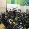 バイク屋の店内整備工場